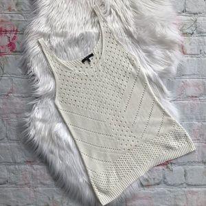 Tart Cream Knit Tank Top